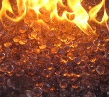 Apricot Firebeads Fire Glass