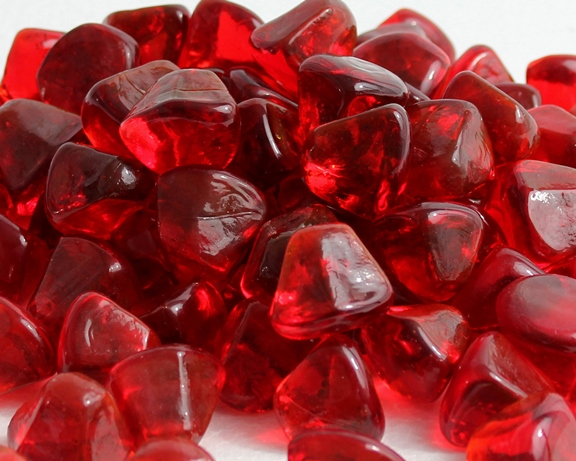 Ruby Red Zircon Fire Glass- 10 lbs Unit | FireBoulder