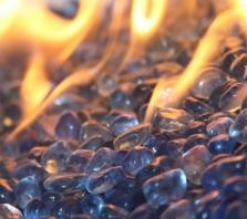 Sky Blue EcoGlass Beads Fire Glass