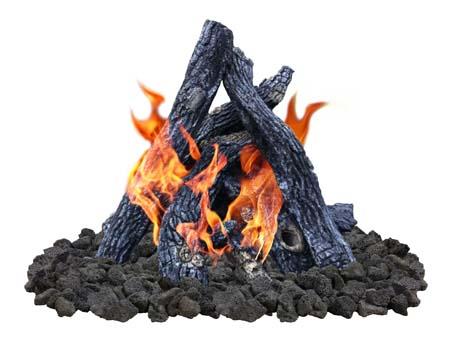 Sedona Log Set Fireboulder Com Natural Stone Fire Pits