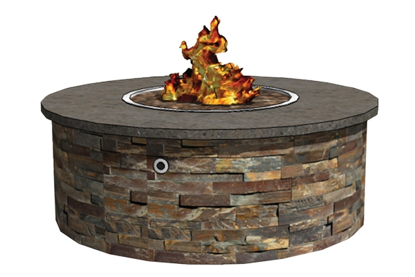Round fire pit enclosures rtf fireboulder for How to build a round fire pit