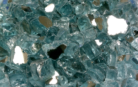 1 2 Azuria Reflective Fire Glass 10 Lbs Unit