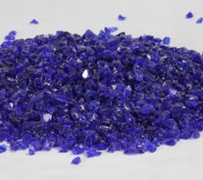 Dark Blue Fireglass Small