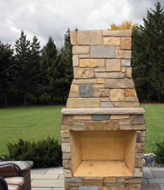 42 Pre Veneered Outdoor Fireplace Kit