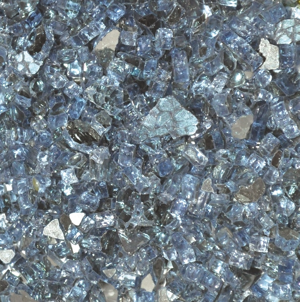 1 4 Pacific Blue Reflective Fire Glass 10 Lbs Unit