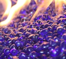 Sapphire Blue EcoGlass Beads Fire Glass