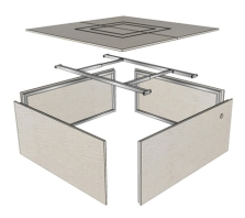 Square Fire Pit Enclosures (RTF)