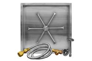 stainless-steel-square-drop-in pan-match-lit-match-throw-listed-burning-spur-burner-bottom-view-fireboulder-fire-boulder-burning-spur-20in-26in-32in-38in