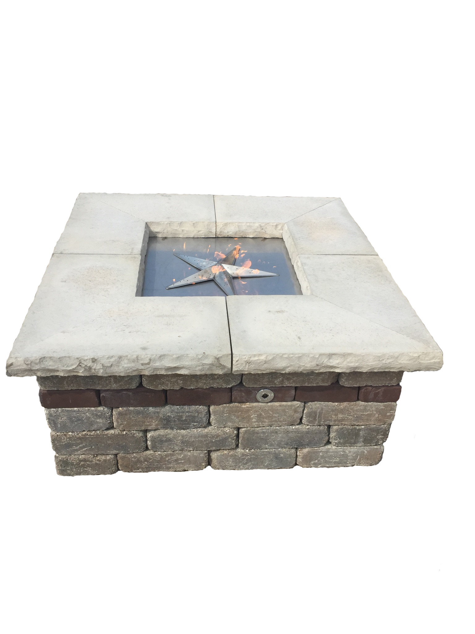 39 inch square fire pit burner kit fireboulder