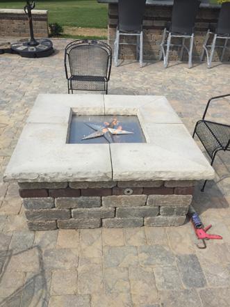 39 Inch Square Fire Pit Burner Kit Fireboulder Com