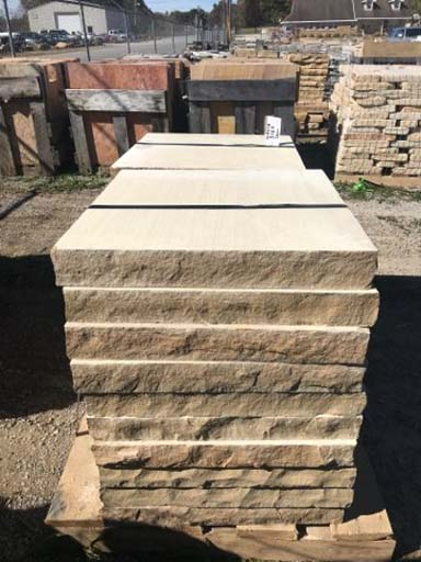 tennessee-brown-tan-sawn-pier-caps-snapped-edges-2-3-inch-24-24-inch-fireboulder-natural-stone-tn