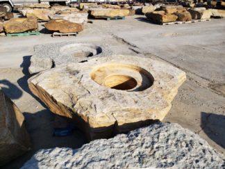 1126CJ Cored Jumbo Fireboulder Natural Stone Fire Pit