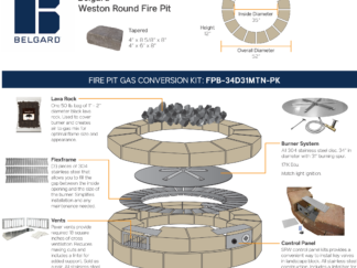 Gas Conversion Kit - Belgard Weston Round Fire Pit