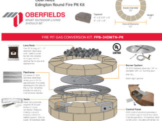 Gas Conversion Kit - Oberfields Edington Round Fire Pit