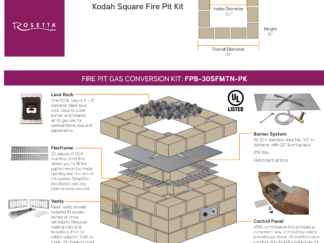 Gas Conversion Kit - Rosetta Kodah Square Fire Pit