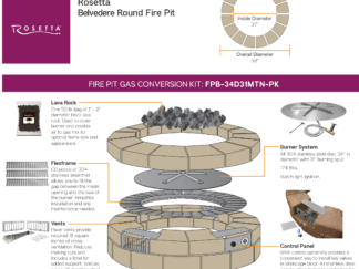 Gas Conversion Kit - Rosetta Belvedere Round Fire Pit