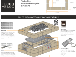 Gas Conversion - Tech-Bloc Brandon Rectangular Fire Pit