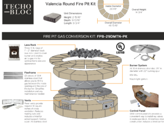 Gas Conversion Kit - Techo-Bloc Valencia Round Fire Pit