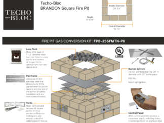 Gas Conversion Kit - Techo-Bloc Brandon Square Fire Pit