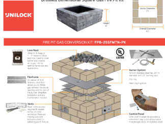 Unilock Brussels Dimensional Square Fire Pit