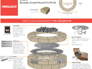 Gas Conversion Kit - Unilock Brussels Sunset Round Fire Pit Kit